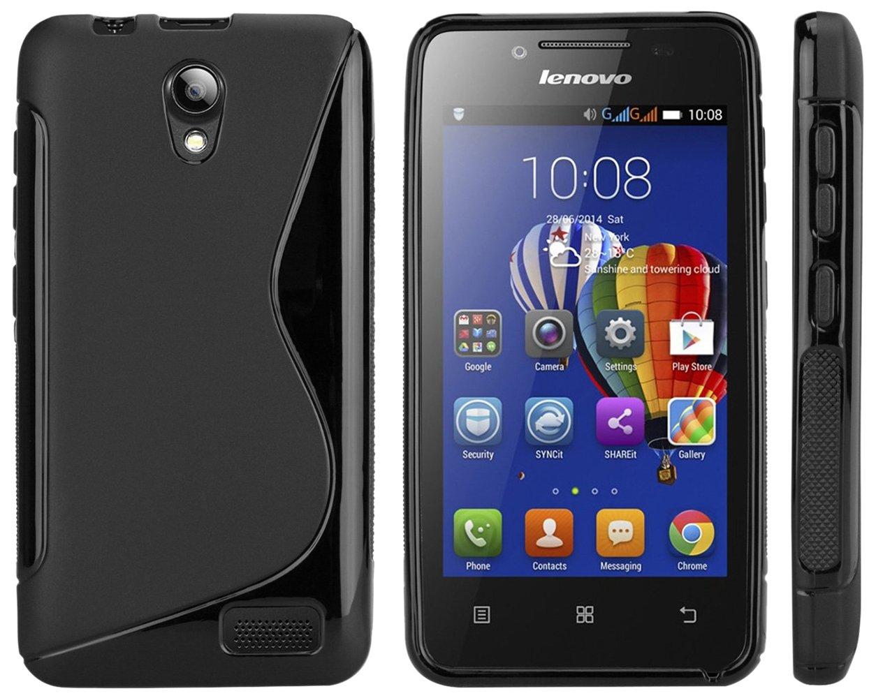 sale retailer 2f2cb a3a32 S Case Rubber Back Cover For Lenovo A319 (Black)