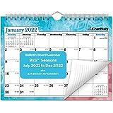 "CRANBURY Small Wall Calendar 2021-2022 - (Seasons), Cute 8x6"" 2022 Mini Wall Calendar, Non-Glossy Paper, Spiral Bound with Ha"