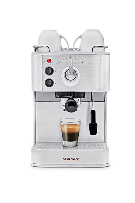 Gastroback 42606 Independiente Manual Máquina espresso 1.5L Plata - Cafetera (Independiente, Máquina espresso
