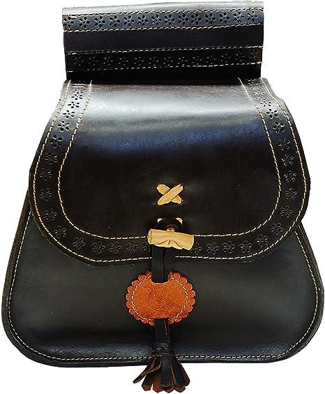 Bolsa de ojeo hecha en España en piel de serraje engrasado para su uso en cetrería: Amazon.es: Deportes y aire libre