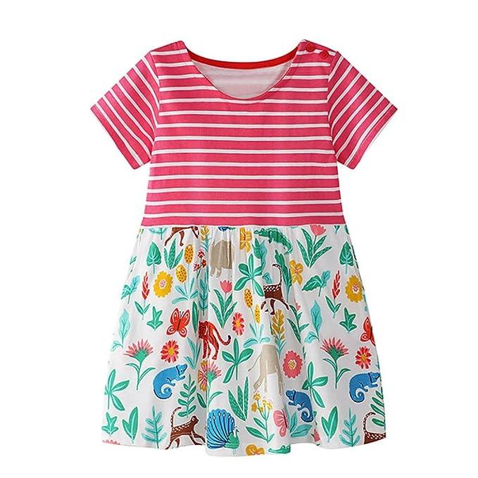 Bebé y Niñas Vestido Niña, ASHOP Vestido estampado de dibujos animados de verano de niña