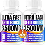 Powerful Keto Pills - Diet Pills for Metabolism, Energy, and Brain Support That Work for Men & Women - 2-Pack - Keto Bhb…