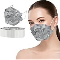 50PCS Adult's Marbling Printed Outdoor Prevention Fish Mask Face Masks - Gray