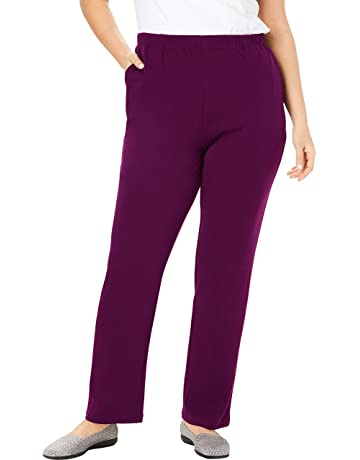 87ce6f571c51d Woman Within Women's Plus Size Petite 7-Day Knit Straight Leg Pant