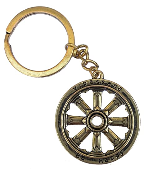 amazon com dhamma wheel keychain 12pcs clothing