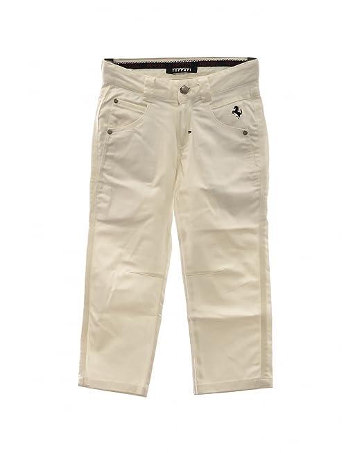 d7ccef594418e4 FERRARI pantaloni bianchi bimbo (4 Anni): Amazon.it: Abbigliamento