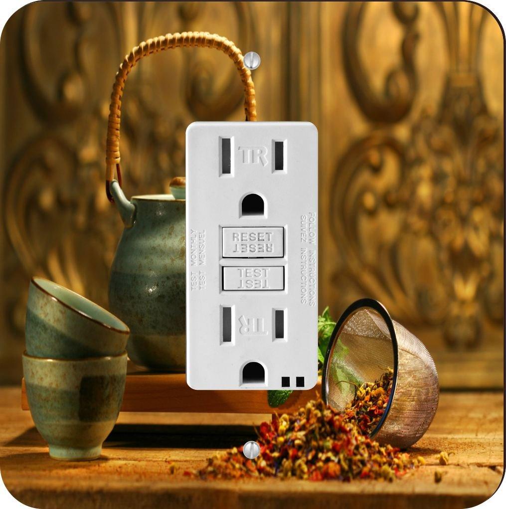 Rikki Knight 8922 Asian Herb Tea Kettle Scene Design Light Switch Plate