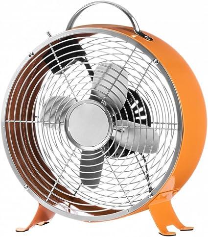 Fusion Living Ventilador de escritorio Retro Funky naranja ...