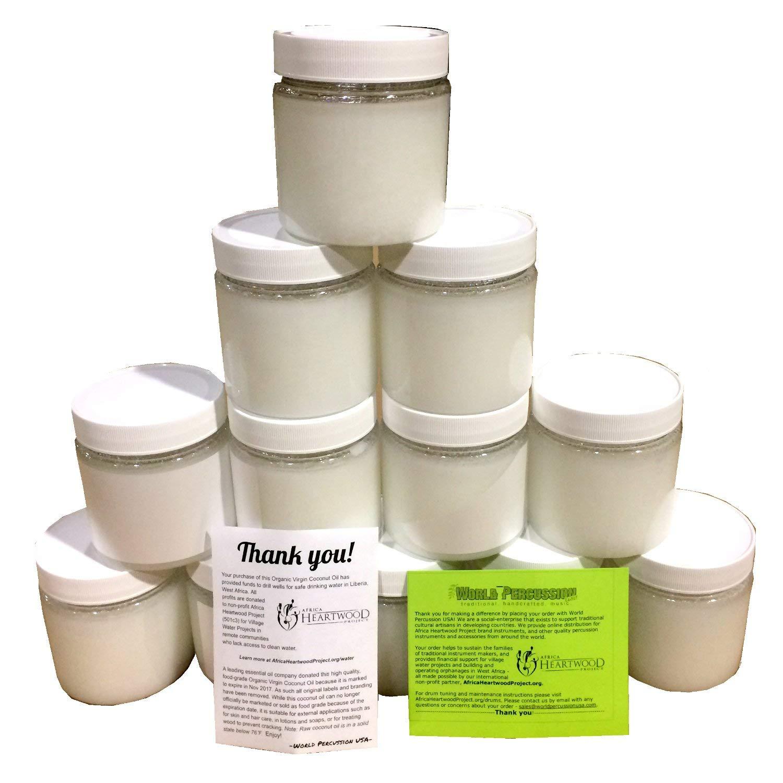 Organic Virgin Coconut Oil 12-pack Bulk, 192 Fl Ounces/6 quarts (12pcs of  16 Fl Oz bottles)