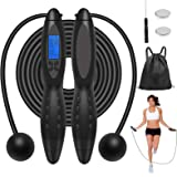 CGV Jump Rope, Digital Smart Fitness Sport Skipping Ropes with Sound Reminder, Backlit Screen, Weight Setting and Calories Co