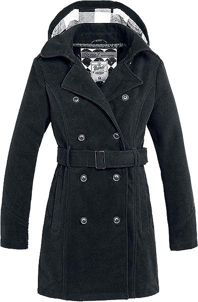 Manteau Noir Et Brandit D'hiver Long Accessoires Vêtements Femme wqqgpH