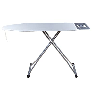 Viasonic Premium+ Ironing Board - Premium Felt Underlay - Cotton Poly Blend Cover - Easy Fold Lever - Sturdy and Dependable - 48  x 15  - Everyday Use by Unity