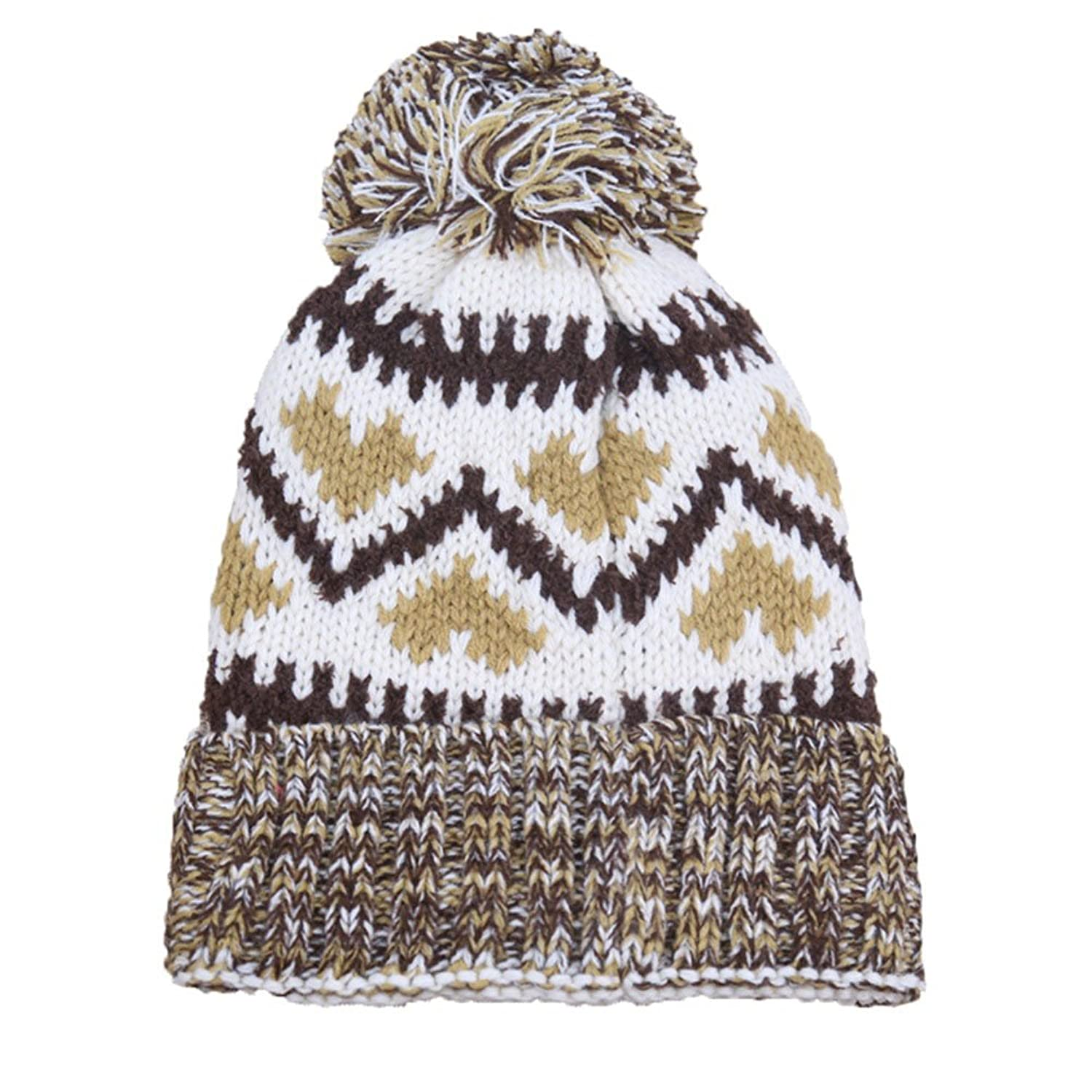 Jenny Shop Women's Winter Beanie Hat Warm Thick Slouchy Cable Knit Cap with Pom Pom