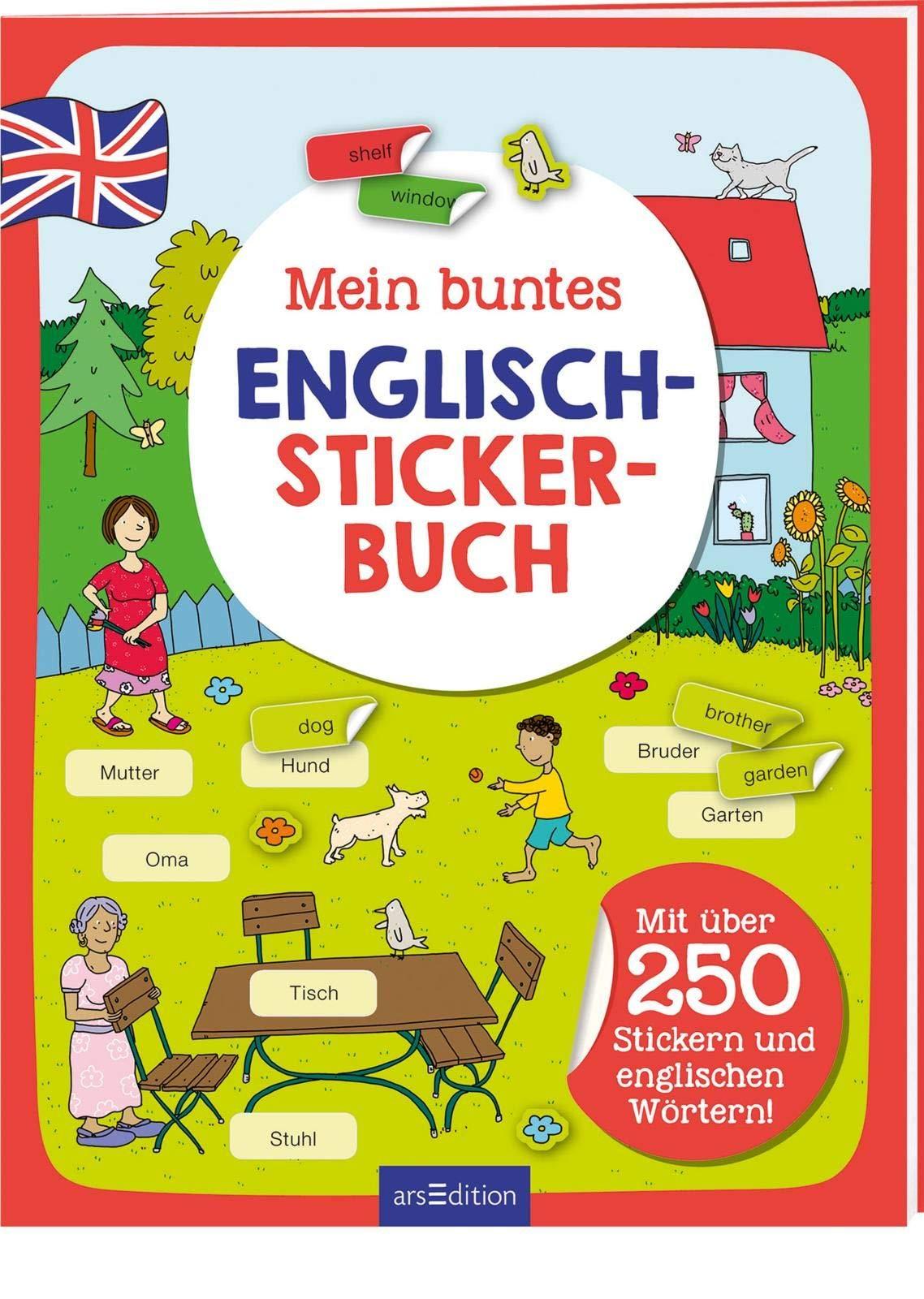 Mein Buntes Englisch Stickerbuch  Mit über 250 Stickern Und Englischen Wörtern