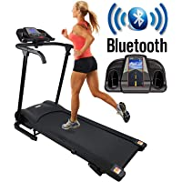 Nero Sports Bluetooth Manual Incline Folding Running Machine Motorised Treadmill with Built in Speakers