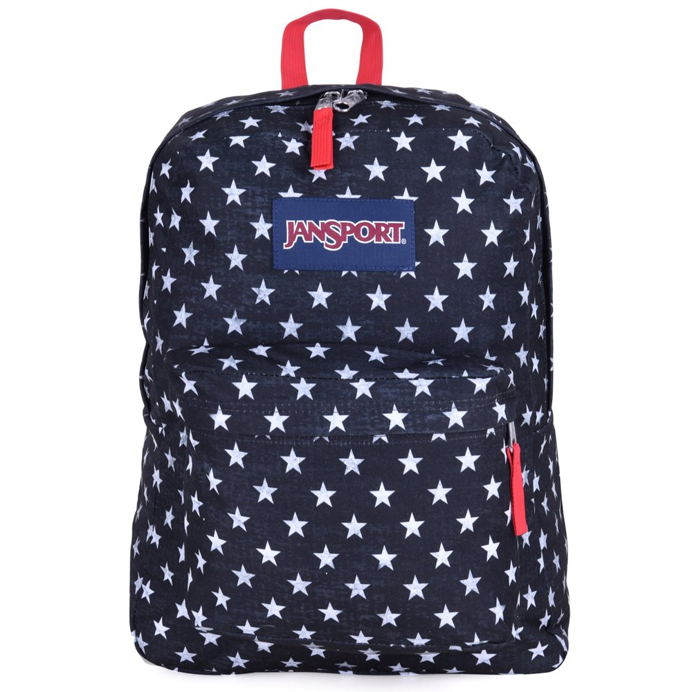 JanSport Unisex SuperBreak Black/White Stars One Size by JanSport