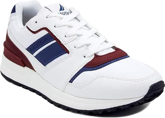 Zapatillas Deportivas de Hombre Nautica Estilo Casual Azul Marino, Rojo y Blanco: Amazon.es: Zapatos y complementos