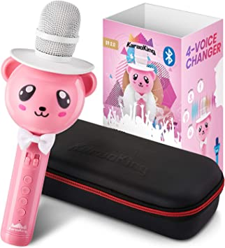 Amazon.com: Micrófono inalámbrico de Karaoke para niños ...