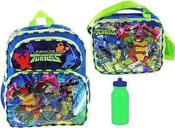 "Teenage Mutant Ninja Turtles 16/"" Full Sz School Backpack w Detachable Lunch Tote"
