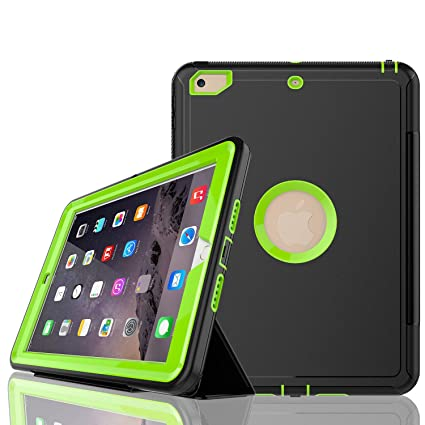 super popular 2f720 f87b5 iPad 6th/5th Generation Case,iPad 9.7 Case  2018/2017,Model(A1893/A1954/A1822/A1823),with Free Screen Protector,Three  Layer Heavy Duty Shockproof ...