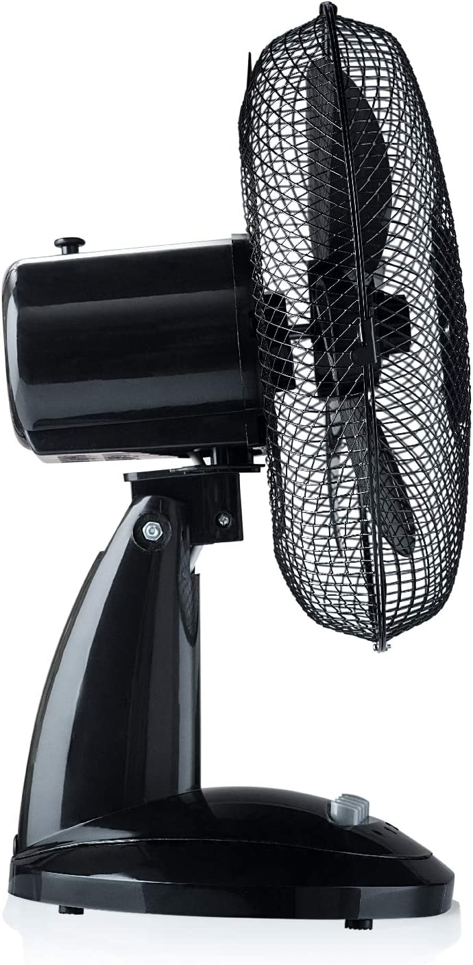 Oscilante Tekkio Motor: 30W Ventilador silencioso de sobremesa 30cm Rejilla Nido de Abeja 3 Velocidades