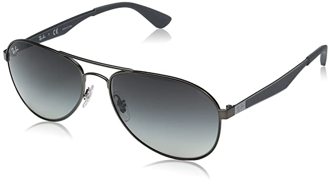 ray ban mens aviator sunglasses gunmetal  ray ban men's metal man aviator sunglasses, matte gunmetal,