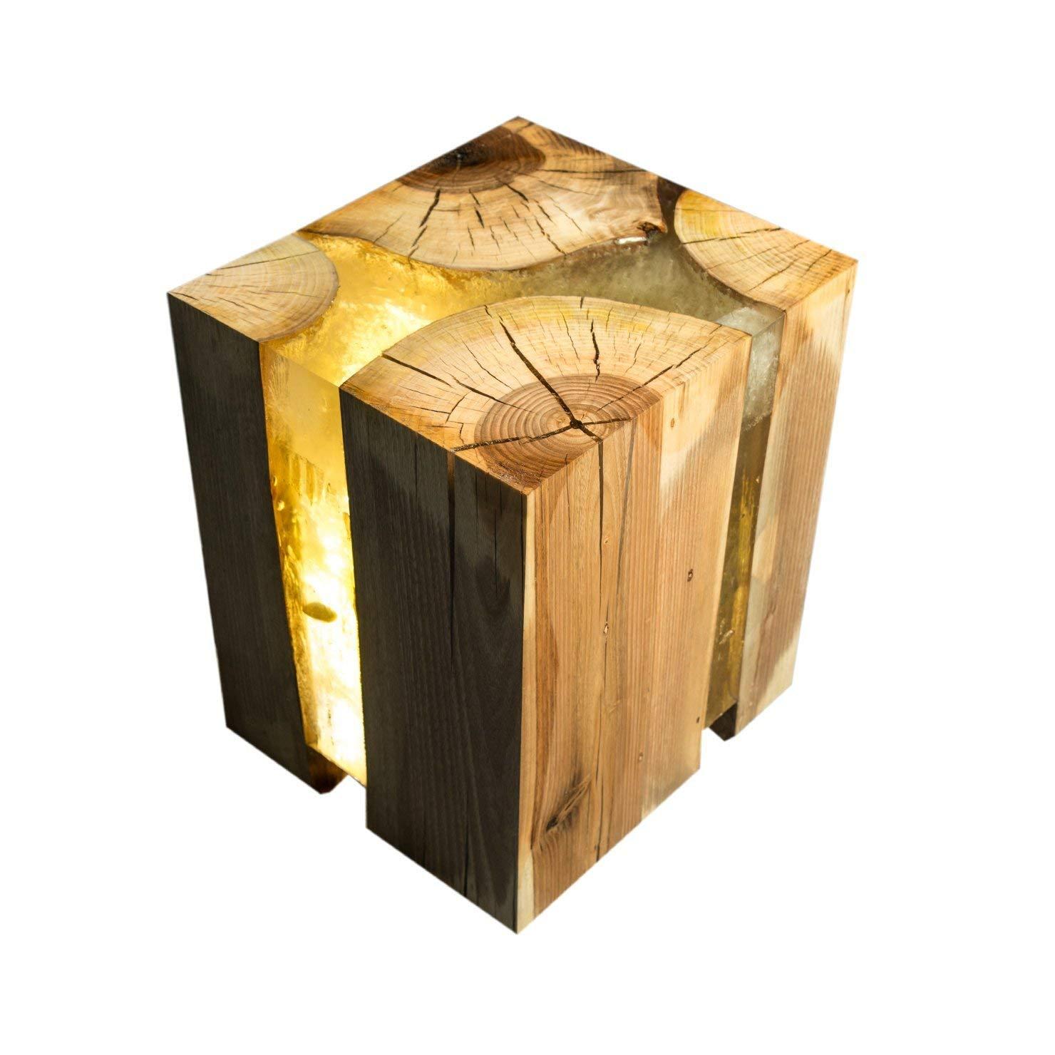Amazon Com Designer Handmade Chopped Wood Epoxy Resin Coffee Table