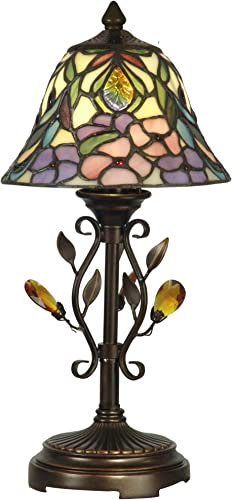 Meyda Home Indoor Decorative Lighting Accessories 16 H Cranberry Pond Lily 2 Lt Accent Lamp