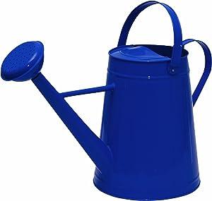 Tierra Garden 36-5081B Traditional Metal Watering Can, 2.1-Gallon, Blue