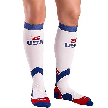Zensah - Hombre Estados Unidos Calcetines de compresión de compresión de Estados Unidos, Todo el año, Hombre, Color Multicolor, tamaño M: Amazon.es: ...