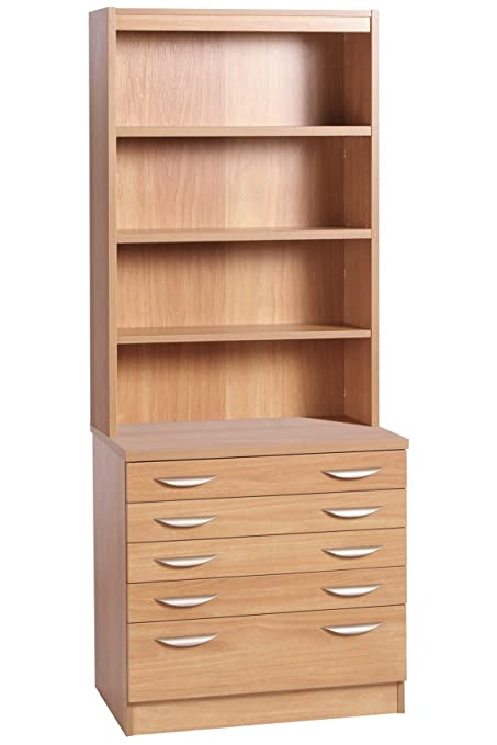 B-ARD-OF-IN-CO Classic Oak A2 Plan Chest Drawing Cabinet  sc 1 st  Amazon UK & B-ARD-OF-IN-CO Classic Oak A2 Plan Chest Drawing Cabinet Home Office ...