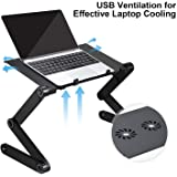 AOOU Cool Desk Laptop stand For Bed and Sofa, IPAD Stand Cozy Desk Portable Adjustable Laptop Table Stand Up/Sitting…