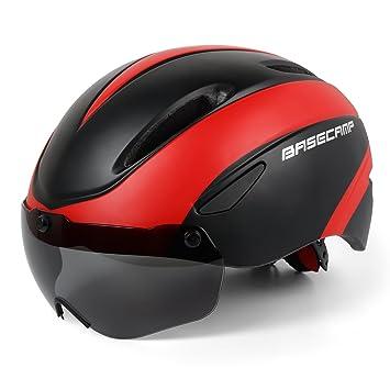 Leadfas Casco de Ciclismo Montaña Seguridad Protección Bicicleta Hombre Ciclismo Hombre con Certificado CE Desmontable Magnético Visera Escudo Ajustable ...