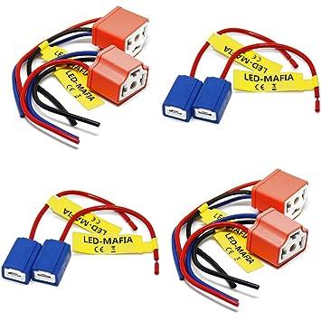 Sockel Stecker Fassung für H1 /& H3 P14.5s /& PK22s Lampensockel