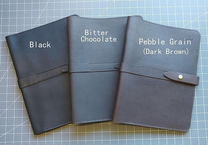 Amazon.com: BLACK Leather Portfolio handmade in my studio. (READY to ...
