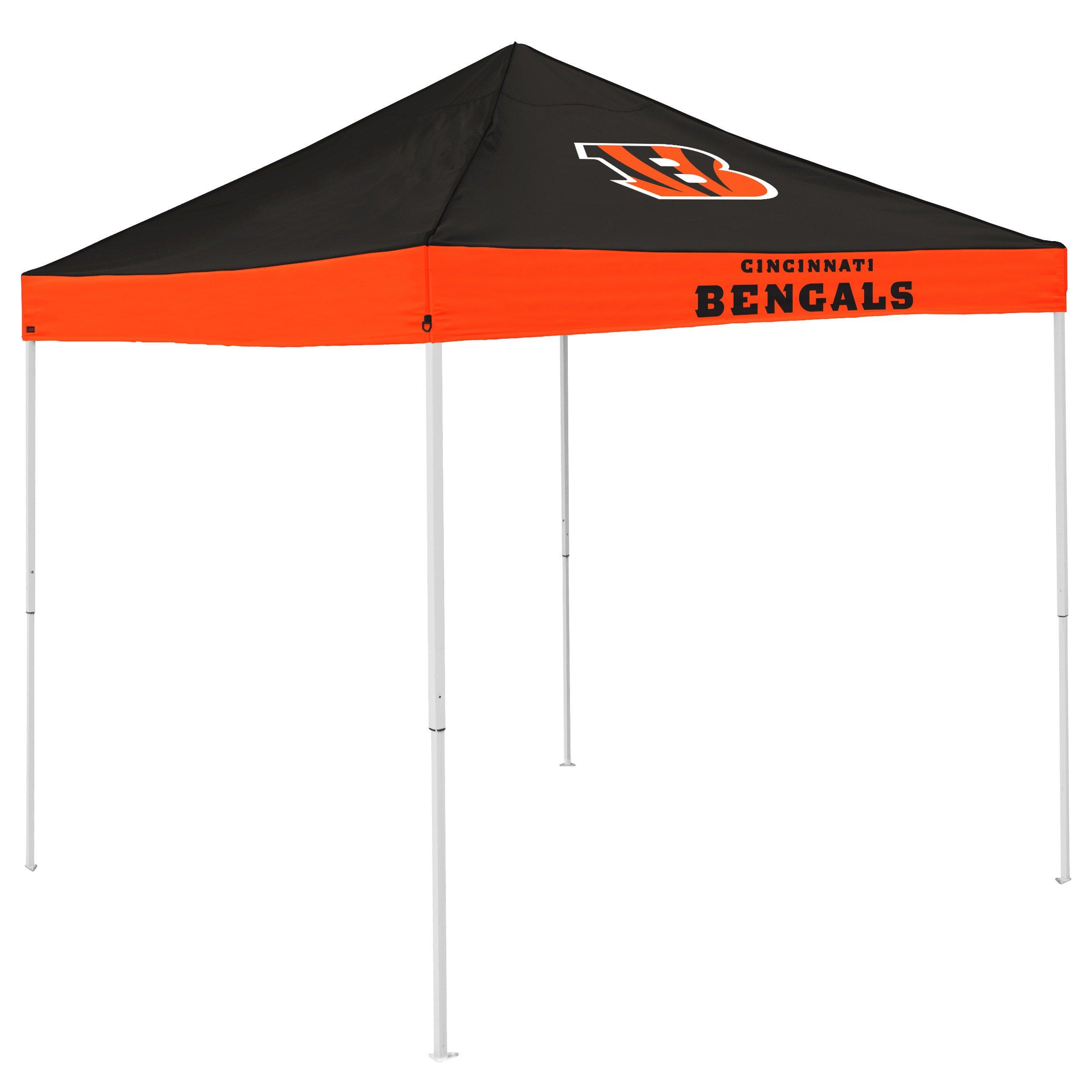 Logo Brands NFL Cincinnati Bengals Economy Tent, Black, One Size