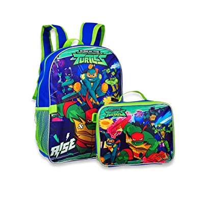 "Ninja Turtles TMNT 16"" Backpack with Detachable Matching Lunch Box 