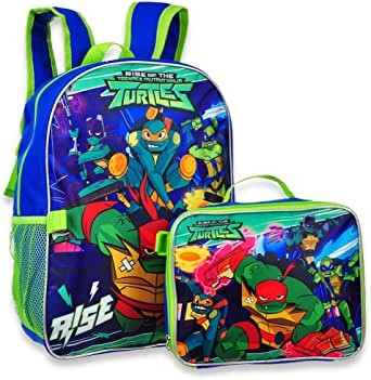 """Ninja Turtles TMNT 16"""" Backpack with Detachable Matching Lunch Box"""