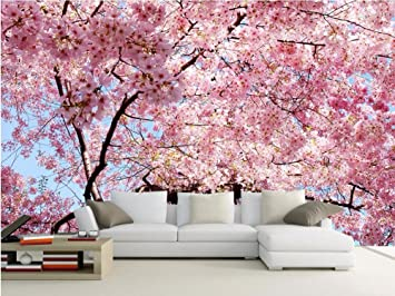 Yosot Benutzerdefinierte Fototapete 3D Große Wandbilder Kirschblüten ...