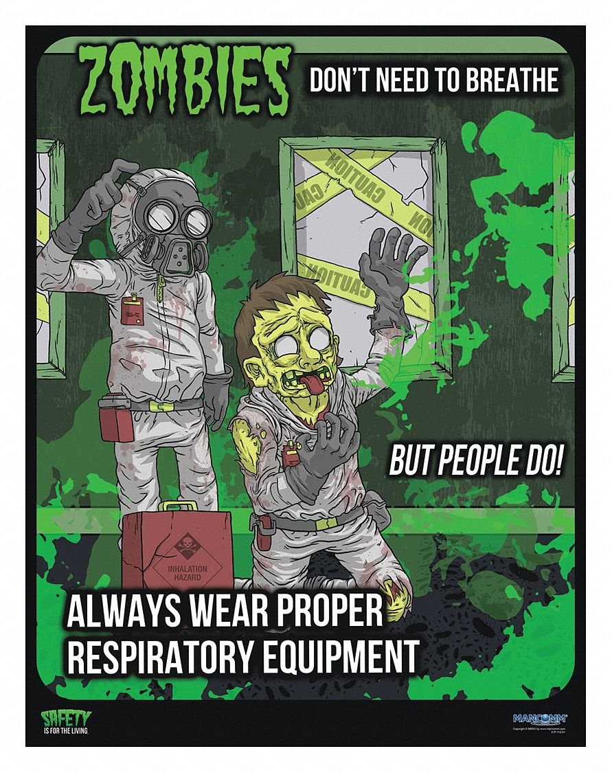 Safety Poster, English, 21'' x 27'', 1 EA
