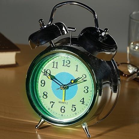 Amazoncom Glow in the Dark Twin Bell Alarm Clock with 2 Alarm