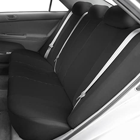 Amazon FH GROUP FB051012 Multifunctional Flat Cloth Split Bench Car Seat Cover Solid Black Fit Most Truck Suv Or Van Automotive