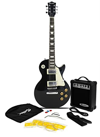 rockburn lp2 style guitar package include 10 w amp gig bag rh amazon co uk
