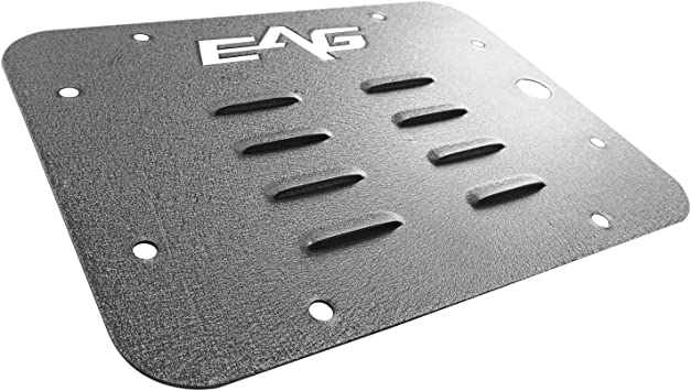 EAG Tailgate Vent-Plate Cover//Spare Tire Mount Delete for 07-18 Jeep JK