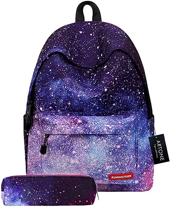 5fe3ad1ee2f6 Artone Universe Galaxy Backpack Padded School Daypack With Pencil Case Set  Fit 14 quot  Laptop Deep
