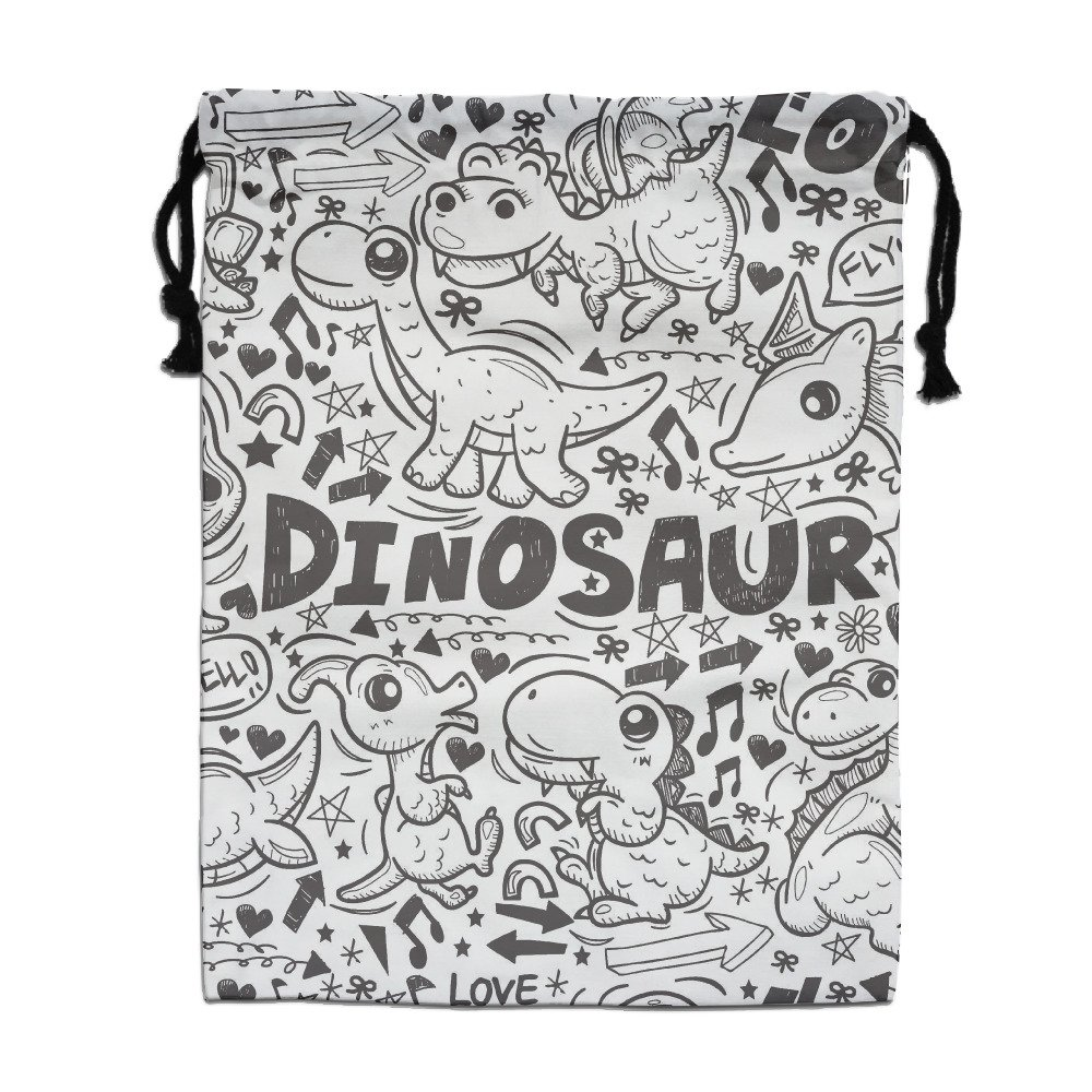 Dinosaurs Party Music 2 Pack Gym Drawstring Bags Daily Buggy Bag