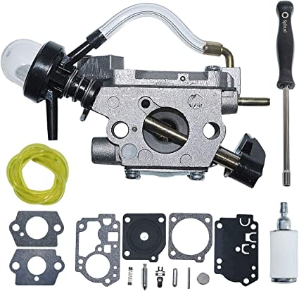 Carburetor For WeedEater FX26SCE SST25CE Fuel Filter Line Primer Bulb Gasket Kit