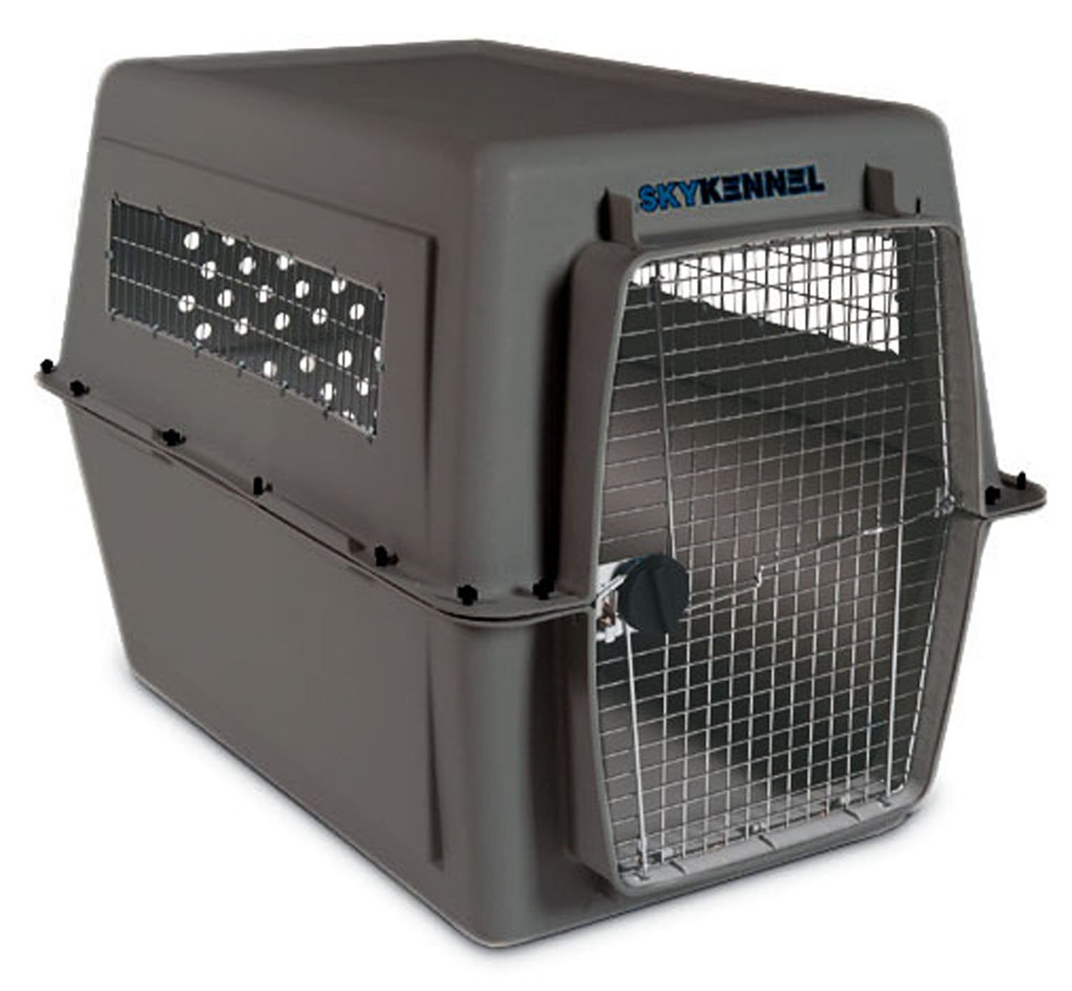 Petmate Sky Kennel for Pets from 90 to 125-Pound, Light Gray