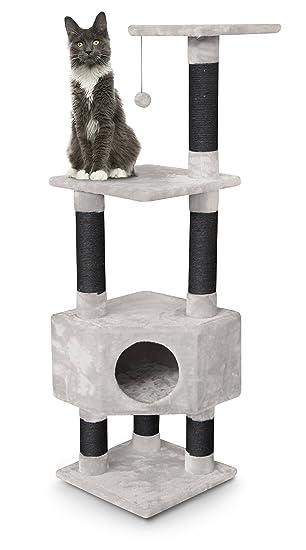 petrebels esquina de gatos de rascador Kings & Queens Elizabeth 135 Royal Crema/Beige Claro