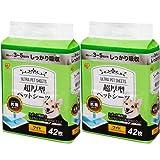 【Amazon.co.jp限定】 アイリスオーヤマ 超厚型 ペットシーツ ワイド 42枚入×2袋(まとめ買い)